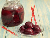 Compote of plums. .  — Stock Photo