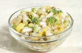 Fruit - vegetable salad of pears and broccoli.  — Stockfoto