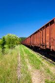 Старые ржавые грузовой поезд депозит — Стоковое фото