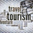 Wordcloud of tourism — Stock Photo