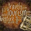 Wordcloud of tourism - Stock Photo