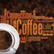 Coffee wordcud — Stock Photo