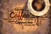 Coffee wordcud — Stock Photo