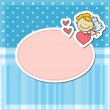 Cute angel card - Stock Vector