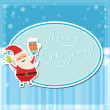 Vintage vector christmas card — Stock Vector