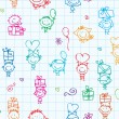 Royalty-Free Stock Vector Image: KIds pattern