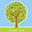 Kids tree — Stock Vector