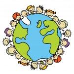 dzieci planeta — Wektor stockowy  #15636171