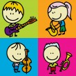 KIds and music — Stock Vector