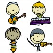 Music kids - Imagen vectorial