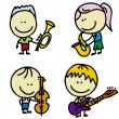 Musuc kids - Imagen vectorial