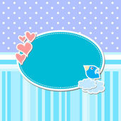 Card template with heart — Stock Vector