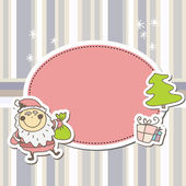 винтаж векторный рождественская открытка — Cтоковый вектор