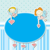 Angels and hearts — Stock Vector