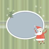 Старинная векторная рождественская открытка — Cтоковый вектор