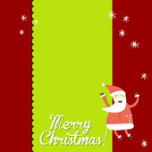 Carte de Noël Vintage vector — Vecteur