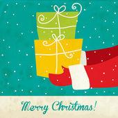 Ročník vektor vánoční přání — Stock vektor