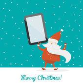 Vintage vector christmas card — Stock Vector