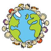 Kids planet — Stock Vector