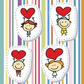 Love children — Stock Vector
