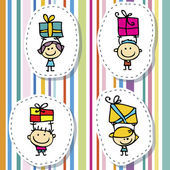 Children with gifts — Stock Vector