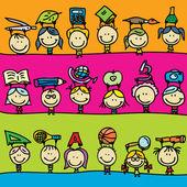 Kids border — Stock Vector