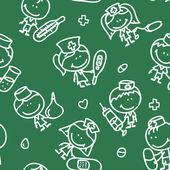 Kids pattern — Stock Vector