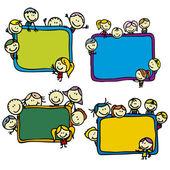 Kids and blackboards — Stock Vector