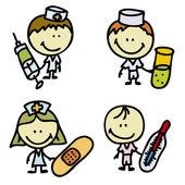 Medic kids — Stock Vector