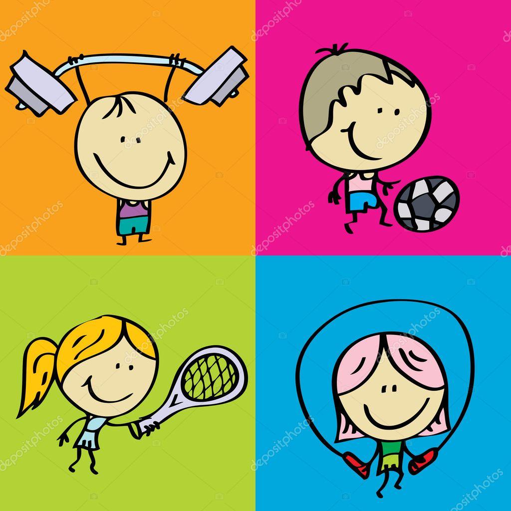 Рисунок тема спорт