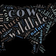 Cow wordcloud — Stock Photo
