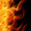 Flame border - Stock Photo