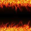 Flame border — Stock Photo