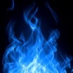 Blue fire — Stock Photo