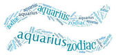 Textcloud: silhouette of aquarius — Stock Photo