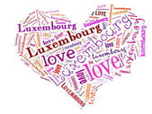 Love Luxembourg — Stock Photo