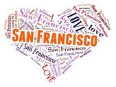 Love San Francisco — Stock Photo