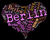 Io amo berlino — Foto Stock