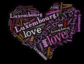 Me encanta luxemburgo — Foto de Stock