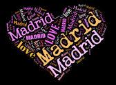 マドリードを愛してください。 — ストック写真
