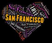 I love San Francisco — Stock Photo