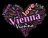 I love Vienna — Stock Photo