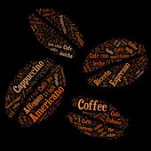 Coffee of words — Stock Photo