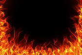 Fire and flame frame — Stock Photo