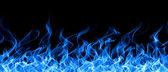 Blue fire border — Stock Photo