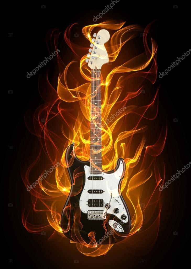 Гитара огня - Стоковое фото alanuster #15640171
