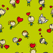 Royalty-Free Stock Vector Image: Doodle seamless background pattern of love valentine day