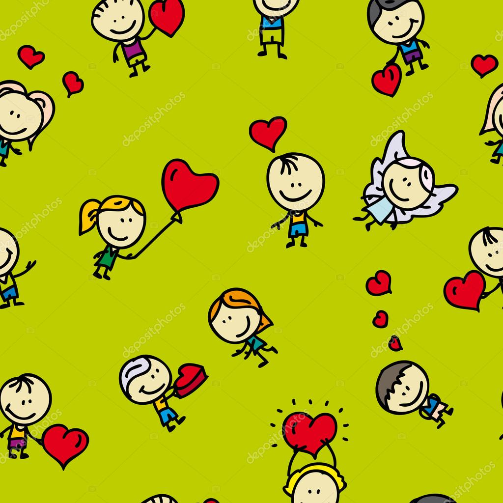 Doodle seamless background pattern of love valentine day  Stock Vector #19159279
