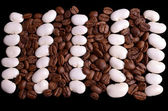 Haricot and coffe beans — Stock Photo