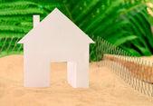 Casa de campo verde — Foto de Stock